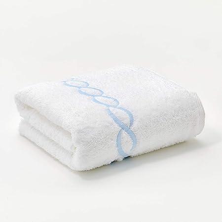 Calla Angel Superior 1000 Gram Egyptian Cotton Oversize 63 x 31 Bath Towel, 1 Piece, Blue Chain