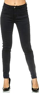 Elara Pantalon Femmes Elastique Jeans Skinny Chunkyrayan