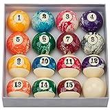 GSEゲーム&スポーツ21/ 4インチregulation size /重量AAAグレード大理石旋回プールテーブルビリヤードボールセット、Complete 16ボールセット