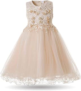 Surprise S Flower Dress Wedding Party Dresses Kids Pearls Formal Ball Gown Evening Outfits Tulle Girl Frocks