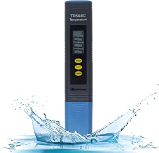 EC Detect PPM Pool Spa TDS Meter by NovoBlue Filtration and Hardness RO System 2-in-1 Digital Tester Pen for Drinking Water Aquarium Hydroponics Coffee Hot Tub