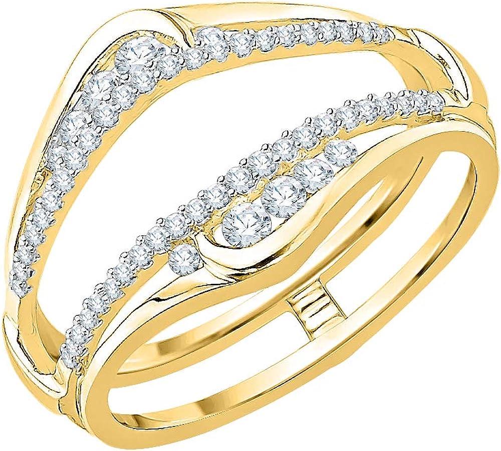KATARINA Diamond Curved Wrap Miami Mall Ring Guard Boston Mall in Enhancer 1 Gold 14k