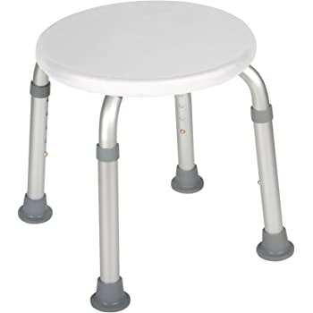 Drive Medical RTL12004KD Adjustable Height Bath Stool, White