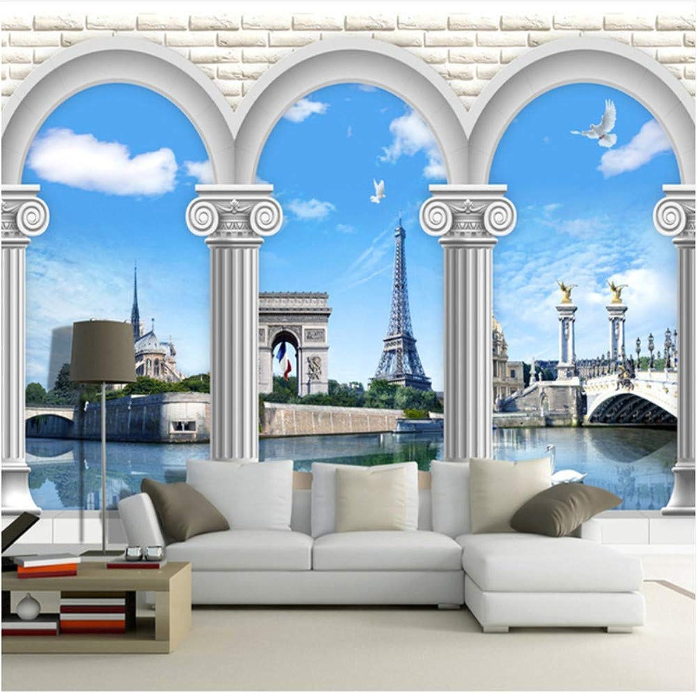Qbbes Mural Personalizado Fondo De Pantalla 3D Romano Mundo Europeo Estilo Fondo Parojo Dormitorio Sala De Estar Sofá Decoración Del Hogar 3D Papel De Parojoe-200X140Cm