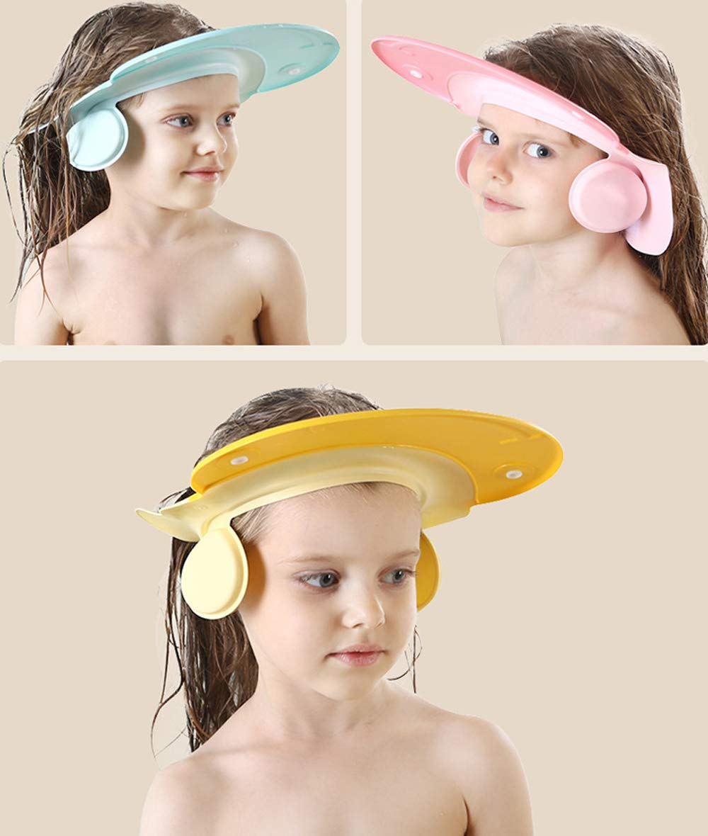 Children Bath Shower Cap wash Shampoo Visor Shield hat Prevent Water Entering The Eyes and Ears Bathing tub Head Hair Rinser Protection Kids Toddler Baby (Blue)