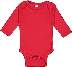 Rabbit Skins Infant Long Sleeve Lap Shoulder Creeper - 4411