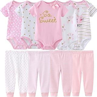 Baby Layette Set Baby Boys' 9-Piece Bodysuits Pants Set...