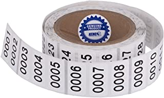 """Consecutively Numbered Labels. Measure: 1.5"""" X 0.75"""" Paper Material (Various Number Sequences Available) (7001-8000)"""