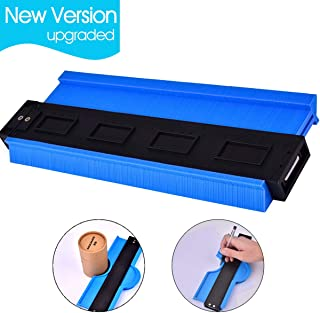 Plastic Contour Gauge Duplicator AUSHEN 10 Inch Profile Gauge Copying Tool Shape Measuring Woodworking Tools Precisely Copy Irregular Shapes for Fit and Easy Cutting