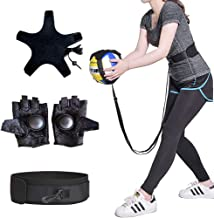 KIKIGOAL Volleyball Training Equipment Aid - Solo Practice for Serving and Arm Swings Trainer,Practice Overhand Serve, Spi...