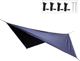 TRIWONDER タープ 天幕 シェード 防水軽量 ティピー グランドシート キャンプ テント ピクニック マット シート フライシート サンシェルター 収納袋付き