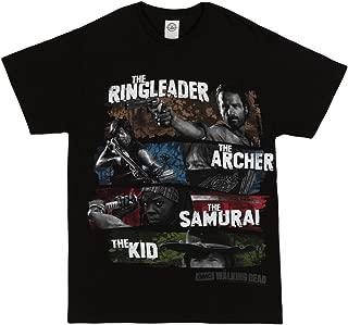 The Walking Dead Four Survivors Men's T-Shirt - Black