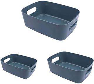 Lpiotyucwh Paniers et Boîtes De Rangement, 3 pièces panier de rangement ménage panier plastique bureau panier panier de ra...