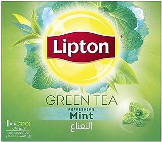 عبوة شاي ليبتون الاخضر - 100 كيس شاي