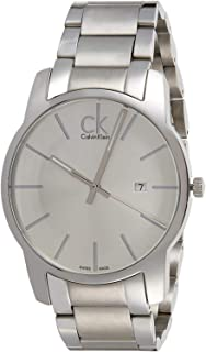 Calvin Klein Men's Blue Dial Stainless Steel Band Watch - K2G2G14N