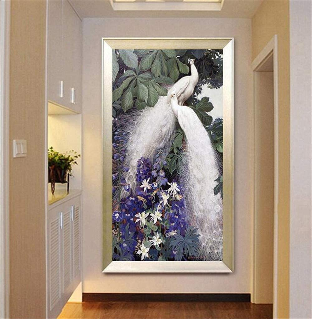 DIY Fresno Mall 5D Diamond Painting Kit for Large New life Pe Purple Size Adults Kids