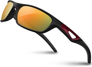RIVBOS Polarized Sports Sunglasses Driving Glasses Shades for Men Women TR90 Unbreakable..