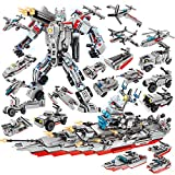 VARWANEO 26IN1 STEM Toys,Deformation Building Block Robot Toy,Creative Assembly Super Warship or Super Robot,Perfect Halloween for Kids Boys and Girls