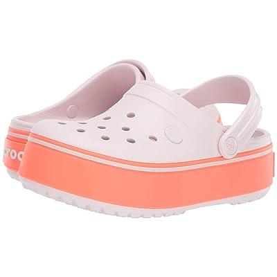 Crocs Kids Crocband Platform Clog GS (Little Kid/Big Kid) (Barely Pink/Bright Coral) Girls Shoes