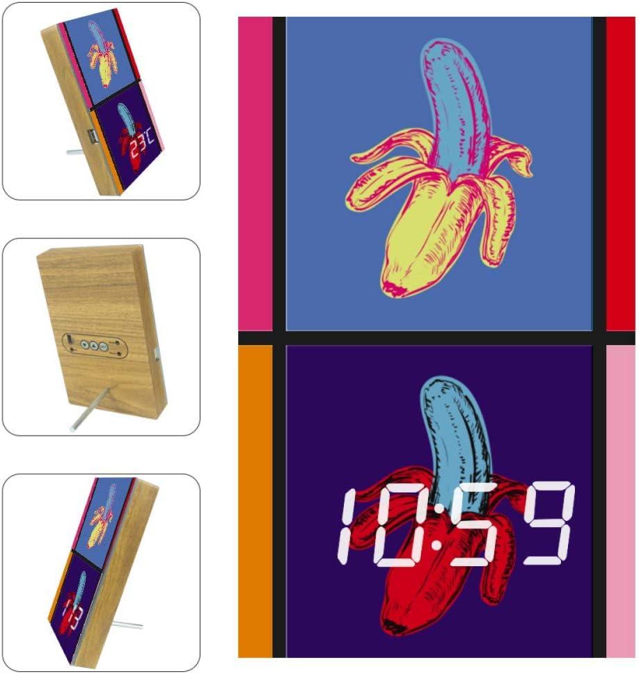 XJJUSC Pop Art Banana LED Popular Soldering brand in the world Wall Functional Countdown Multi Clock