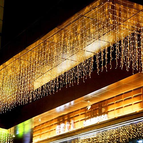 TYSYA Lichtsnoer voor kerstmis, led-slinger, feest, tuin, podium, ijspegels, licht, thuis, festival, bruiloftsdecoratie