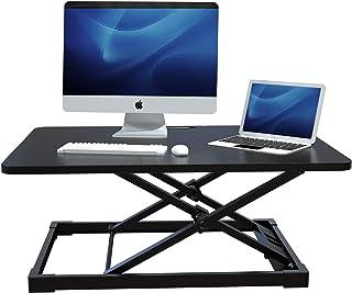 AIMEZO Height Adjustable Standing Desk Converter Sit Stand Desktop Riser for Computer Monitors Laptop Tabletop Workstation