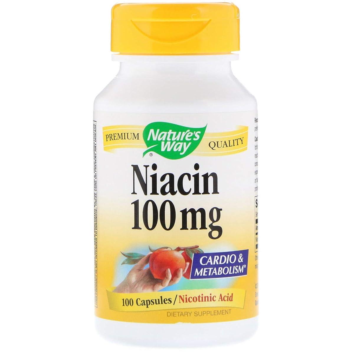 開拓者天楽しむNature's Way ナイアシン Niacin 100mg 100カプセル [並行輸入品] - 2 Packs