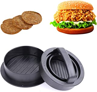 KMEIVOL Burger Press, 3-in-1Hamburger Patty Maker, Works Best for Burger Making Kit, Hamburger Patty Maker for Grilling, Dishwasher Safe, Regular Beef Burger, Kitchen & Grilling Accessories
