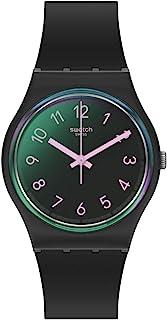 Swatch Quartz Plastic Strap, Black, 16 Casual Watch (Model: GB330)