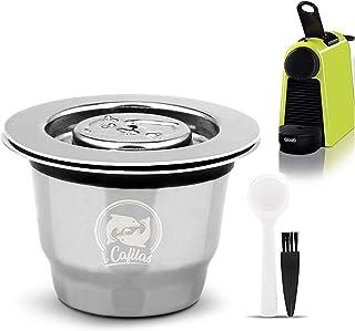 Cápsulas reutilizáveis de aço inoxidável i Cafilas, cápsulas de café de crema, recarregáveis, cápsulas de café com tampas ...