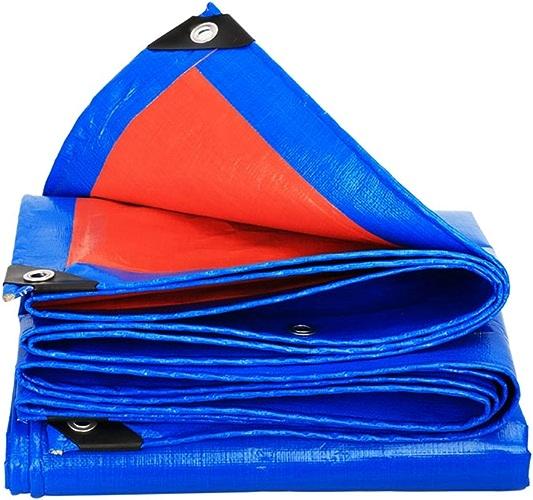 WSGZH Auvent De Bicyclette Imperméable De Bache De Bache Imperméable Et Imperméable à l'eau, épaisseur 0.35mm, 180g   M2, Bleu + Orange, 18 Options De Taille