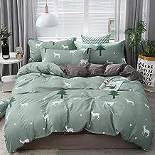 Solstice Home Textile Yellow Gray Eye Simple Bedding Sets, Duvet Cover Pillowcase Flat Sheet, Boy Teen Adult Girls Bed Lin...