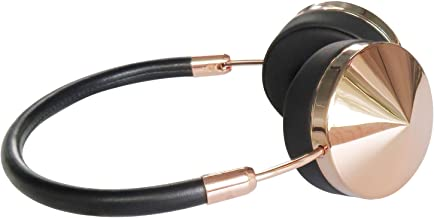 Liboer Fashional Rose Gold Wireless Bluetooth Headphones with Mic Foldable On Ear Headset with Carrying Case for iPhone 7 Samsung Cellphones with Shareport BT88 (Black Rose)