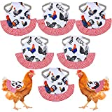 6 Pieces Standard Chicken Saddle Hen Apron Chicken Jacket Straps Feather Fixer with Elastic Straps Suit for Small, Medium and Large Hens, Care Accessories Hen Supplies