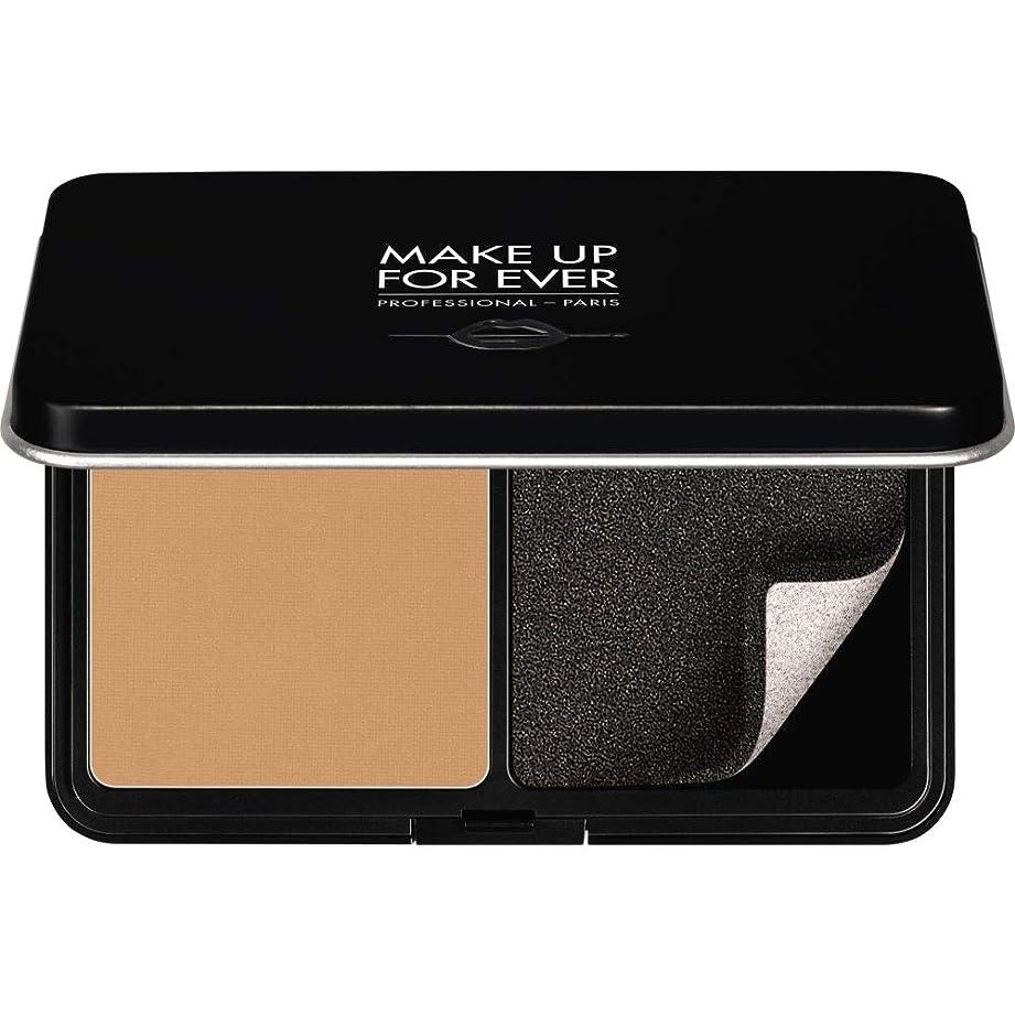 蒸し器かすかなスタック[MAKE UP FOR EVER ] 黄金の砂 - パウダーファンデーション11GののY375をぼかし、これまでマットベルベットの肌を補います - MAKE UP FOR EVER Matte Velvet Skin Blurring Powder Foundation 11g Y375 - Golden Sand [並行輸入品]