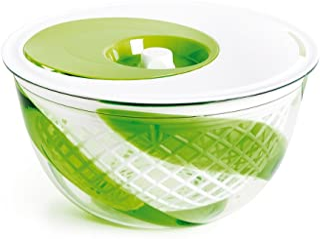 Snips Spin, Drain & Serve Salad Spinner 5 Quart, Green