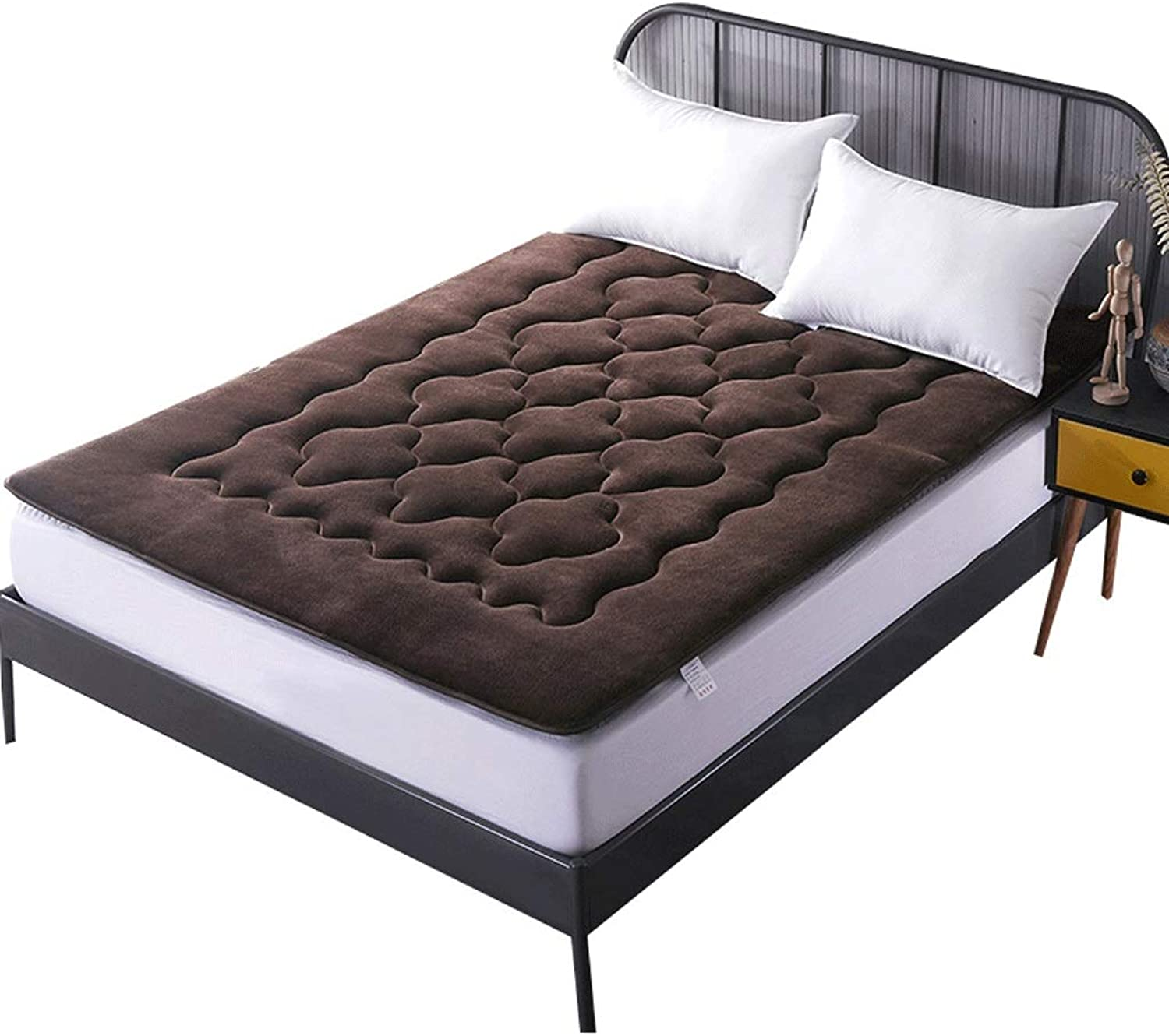 Double Bedroom Mattress, Thick Tatami Mat, Cotton Warm Pad (color   A, Size   150X200cm)