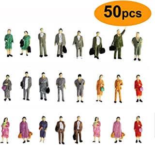 Gdaya 1:87 HO Scale People Figures 50PCS Hand Painted Standing Miniature People Figures Passengers | Model Train Figures Tiny People for Miniature Scenes