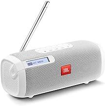 JBL Tuner Radio portátil DAB/DAB+ – Altavoz portátil inalámbrico, con Bluetooth, radio FM y MP3, hasta 8 h de radio digital , blanco