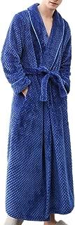 iTLOTL Men's Winter Nightwear Lengthened Bathrobe Home Clothes Shawl Long Sleeved Robe