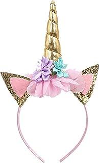 Partysanthe Kids Girl's Hair Accessories Cute Girls Flower Cat Ears Unicorn Headbands Children Headwear Photo Props Hairba...