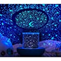 Prolight Remote Control Seabed Starry Sky Rotating LED Projector Night Light Table Lamp for Children Kids Baby Bedroom