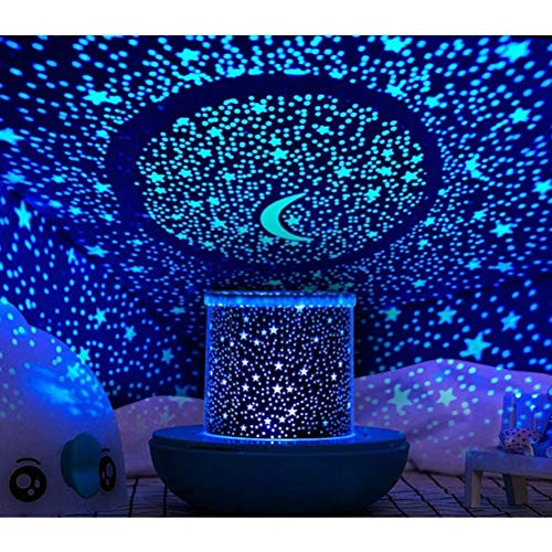 WINICE Remote Control and Timer Design Seabed Starry Sky Rotating LED Star Projector for Bedroom, Night Light for Kids, Night Color Moon Lamp for Children Baby Teens Adults(Blue)