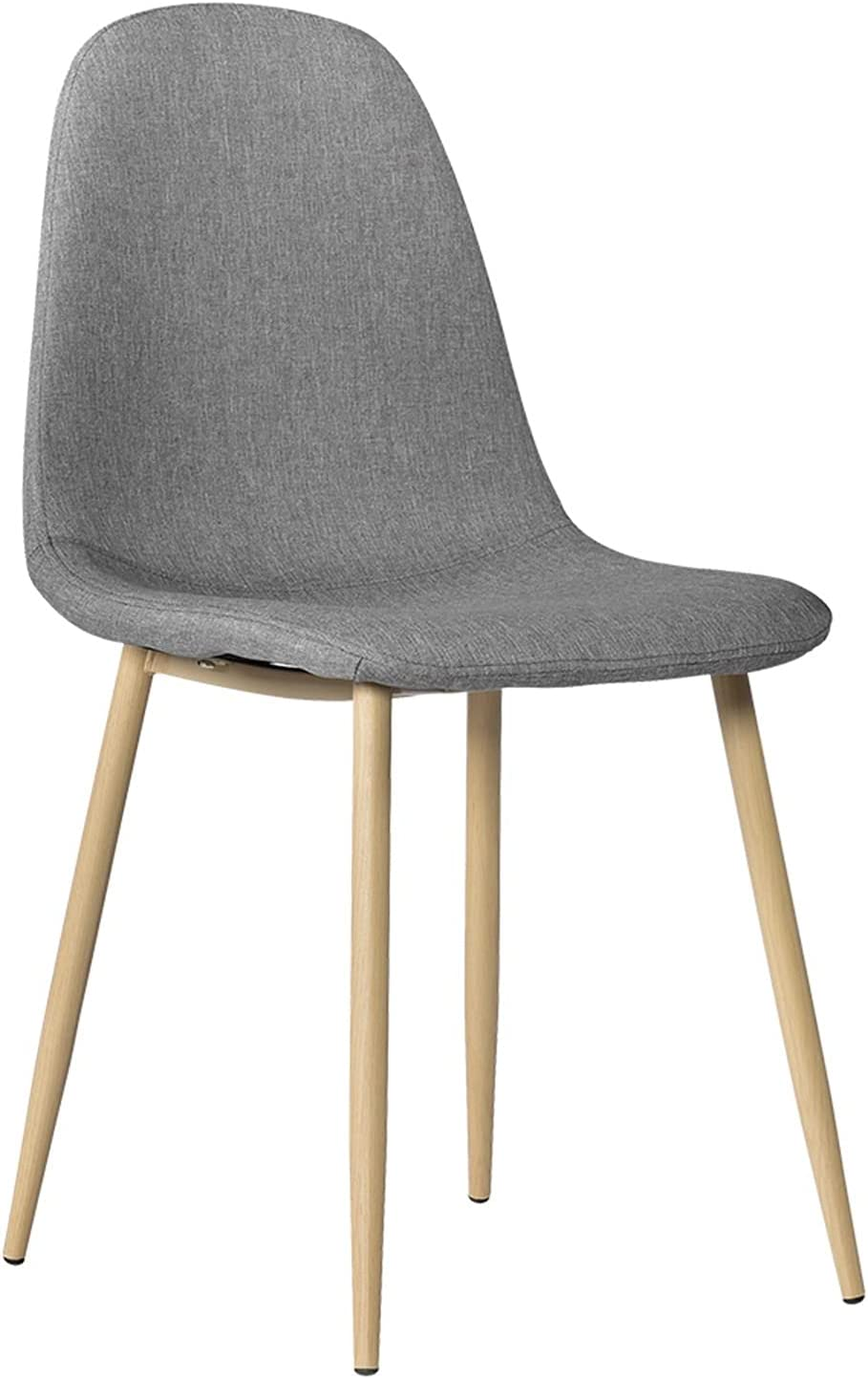 ZEHYANG 4pcs OFFicial mail order Modernistic Style Simple Dining Chair Easy-to-use Durable Grey