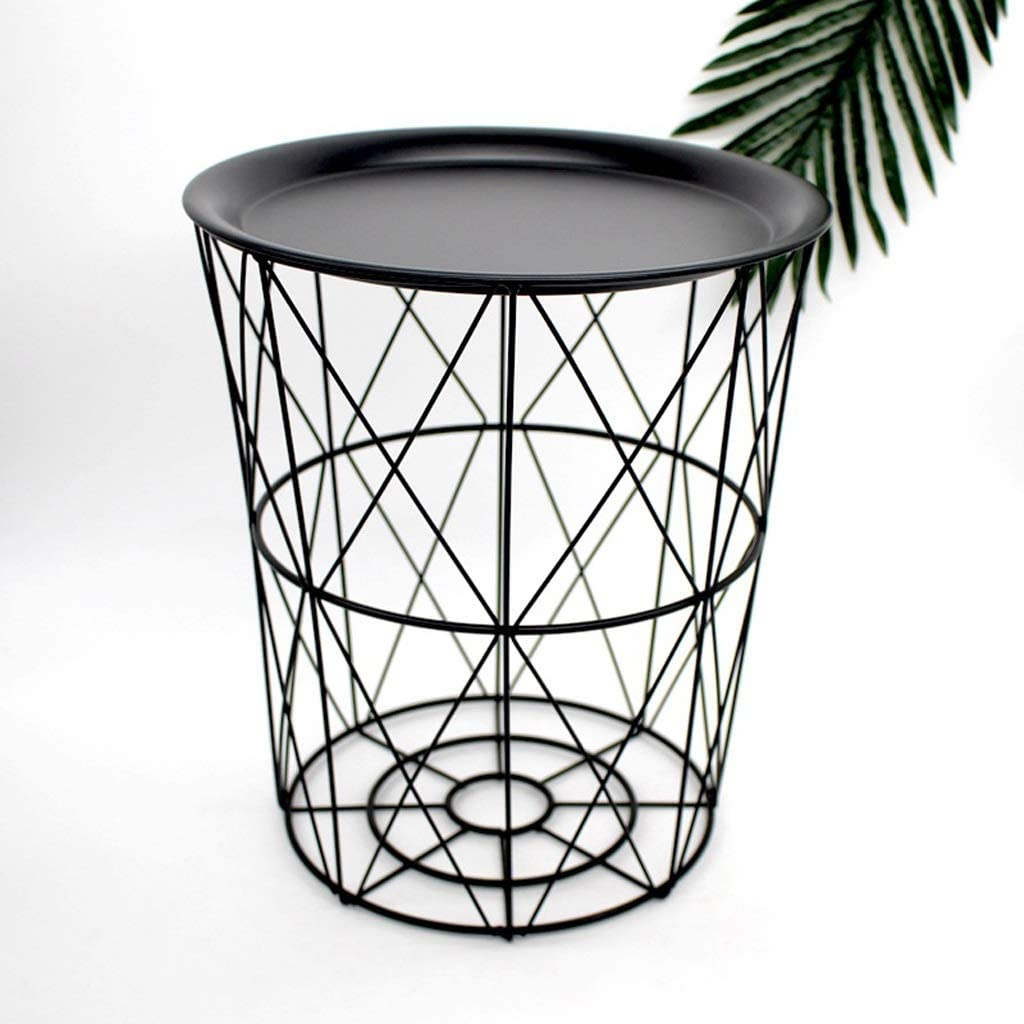 NYDZ Iron Small Portland Mall Coffee Table Living Basket Metal Hamper Same day shipping Storage