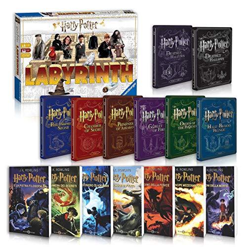 Harry Potter La Saga Completa Libri 1-7 + Steelbook 1-8 + Labyrinth