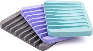 ComSaf 石鹸置き ソープディッシュ ソープホルダー ソープトレイ スポンジ置き 水切り 3色セット