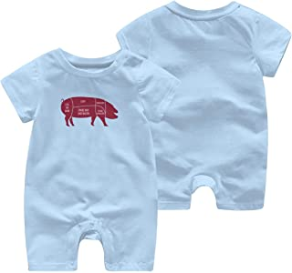 CDHL99 Elephant Playing Soccer Infant Baby Boys Girls Short Sleeve Jumpsuit Outfit 0-24M