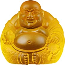 Buddha Statue Decoration Laughing Buddha Statue Chinese FengShui Money Maitreya Buddha Sculpture Figurines Home Office Car...