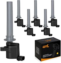Set of 6 Ignition Coil Pack Compatible with Ford Escape Taurus Mazda Mercury 2001-2005 3.0L V6 Replaces# 18LZ-12029-AB 18LZ-12029-AA 2M2Z-12029-AC DG500 DG513